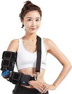 Elbow Braces Elbow Orthosis Hinged,Hinged, for arm Braces Splint Orthosis,Orthotics Band Pad Belt Immobilizer,Adjustable f...