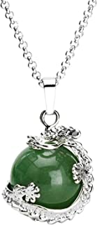 Dragon Necklace Chakra Reiki Healing Crystal Pendant Gemstone Necklace for Women Men