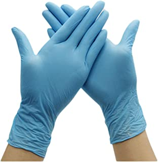 Nitrile Exam Gloves - Powder Free, Non-Sterile, Disposable,Food Safe,Indigo Color, Convenient Dispenser Pack of 100 Gloves