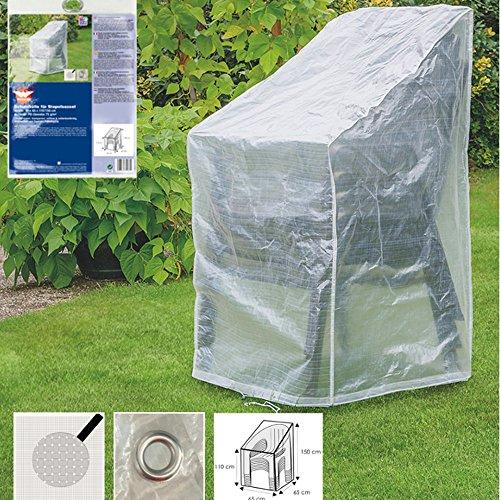 Couverture de protection transparente pourmeubles de jardin Stapelsessel,ca.65x65x110/150 Transparent
