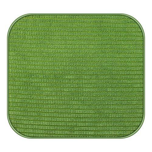 Yolife Cloth Dish Drying Mat, Drying Mat for Kitchen Counter Microfiber Dish Drying Mat, Kitchen Dish Drying Pad, Absorbent(Green)