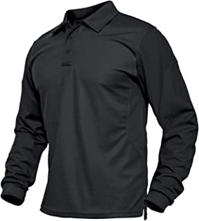 Men's Jersey Golf Polo Shirts Outdoor Pique Performance Tactical Military Long Sleeve Shirts