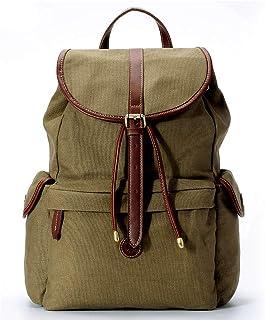 b3d7a0844d8a La Poet Women's Water Resistant Vintage Waxed Canvas Purse Backpack  Rucksack (Olive)