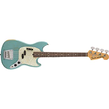 Fender JMJ Signature Series Road Worn Mustang Bass - Rosewood Fingerboard - Faded Daphne Blue