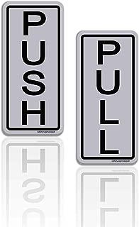 Push/Pull Door Stickers- UV Film Laminated 2 in. x 5 in. for Indoor Outdoors