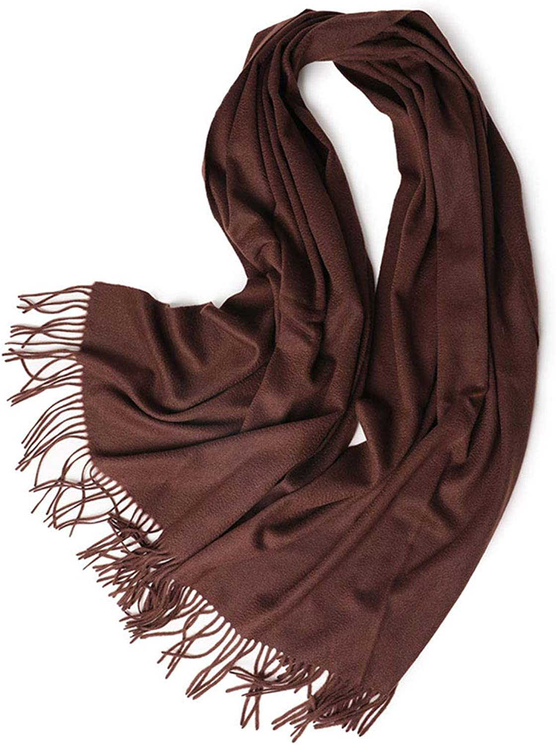 GJFeng Long Thick Cashmere Scarf Wavy Cashmere Scarf Ladies Shawl Fringed Shawl 70  200cm Brown Purple (color   Brown, Size   70  200cm)