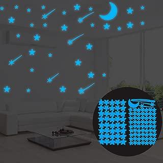 xxiaoTHAWxe 108Pcs Luminous Stars Glow in The Dark Ceiling Wall Stickers Kids Bedroom Decor