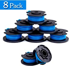 """FutureWay String Trimmer Replacement Spool Line 0.065"""" 18-Volt 24V 40V, Compatible with Ryobi One+ AC14RL3A, Weed Eater String Autofeed Cordless Trimmer Line 11ft, 8 Spools"""
