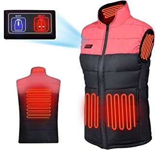 Wanfei Heated Vest for Men/Women, Lightweight Electric Waistcoat, Warm Jacket with USB Insert for Winter Skiing Hiking Travel Fishing