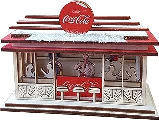 TRC Designs Coca-Cola Soda Shop Cottage - Coke Christmas Holiday Collectible Ornament