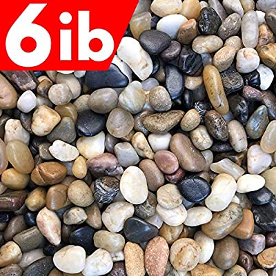 Voulosimi River Rock Stones, Natural Decorative Polished Mixed Pebbles Gravel,Outdoor Decorative Stones for Plant Aquariums, Landscaping, Vase Fillers