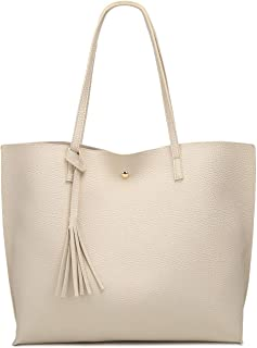 Women s Soft Leather Tote Shoulder Bag from Dreubea 40cfcfb3611de