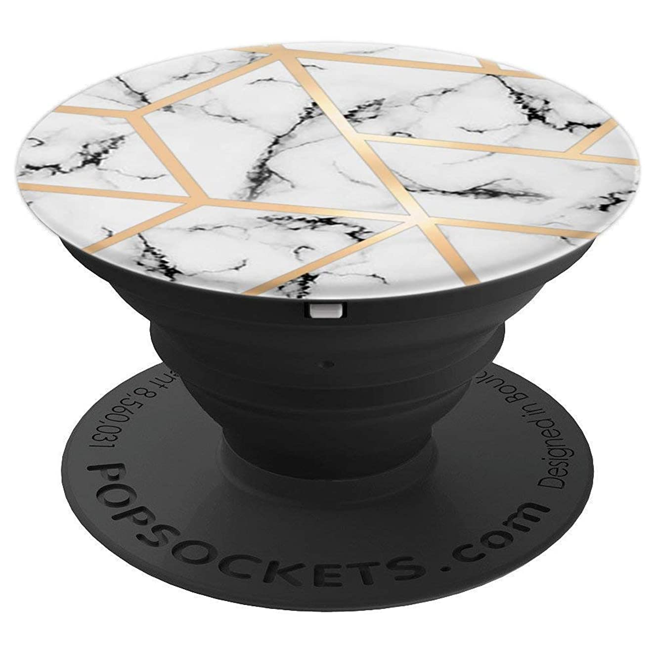 Pop Socket Marble White And Geometric Rose Gold Chic Design - PopSockets Grip and Stand for Phones and Tablets