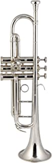 Sponsored Ad - INDIAN HANDMADE BRASS FINISH Standard B Flat Bb TRUMPET Silver Chrome Polish with all accessories & Hard Case