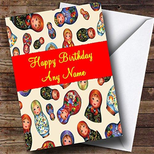 Russische Babushka Dolls Gepersonaliseerde Verjaardagskaart