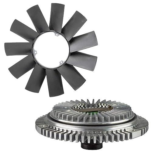 TOPAZ Engine Cooling Fan Clutch + Fan Blade for BMW E36 E46 E53 E34 E32 E39