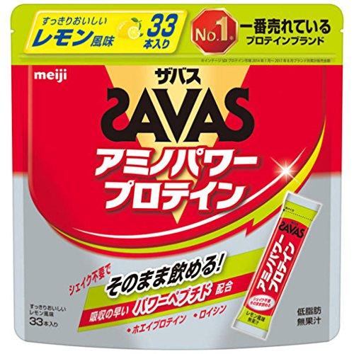 ザバス(SAVAS) アミノパワープロテイン(ホエイ+ロイシン) レモン風味 4.2g×33本