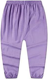 COMVIP Girls Solid Summer Anti-Mosquito Pant Bloomers Sport Trouser