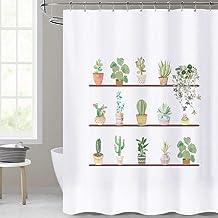 Cactus Decor Duschvorhang mit modernem Polyester Stoff f/ür das Badezimmer mit Haken 183 x 183 cm wasserdicht Duschvorhang pr/ägniertem Design schimmelresistent tolle Dekoration