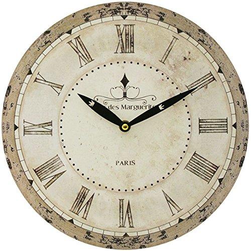 Carousel Home - Reloj de pared (28 cm), diseño de palabra francesa