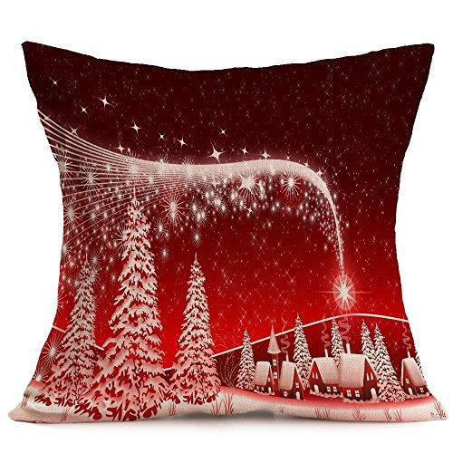 Patrón Suave Navidad del Coche del sofá Almohada Decorativa con reposacabezas Sofá Inicio Funda de Almohada, tamaño: 43 * 43cm Guangzhoubaiyonghangkongpiaowuyouxiangongsi (Color : Color15)