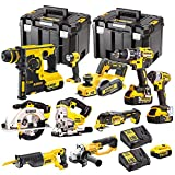 Dewalt 10 Pieces <span class='highlight'>Power</span> Tool 18V Li-ion Monster Kit with 4 x 5.0Ah Batteries & 2 x Chargers in 2 x Cases