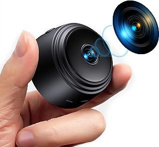 Mini caméra Espion, caméra de sécurité cachée Full HD 1080P avec détection de Mouvement de Vision Nocturne, caméra WiFi ad...