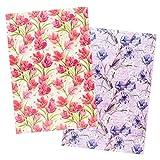 Ideen mit Herz 2 fogli di carta di riso | Carta per decoupage | DIN A4 | 2 diversi motivi | vintage, Natale e molto altro (fiori 12)