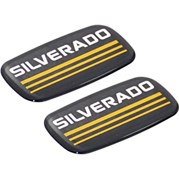 2x SILVERADO Cab Emblem Decal Side Roof Pillar Badge Replacement For Chevrolet Silverado Suburban Tahoe Blazer C//K Series Truck Automotive Accessories Decoration Black,Yellow Line