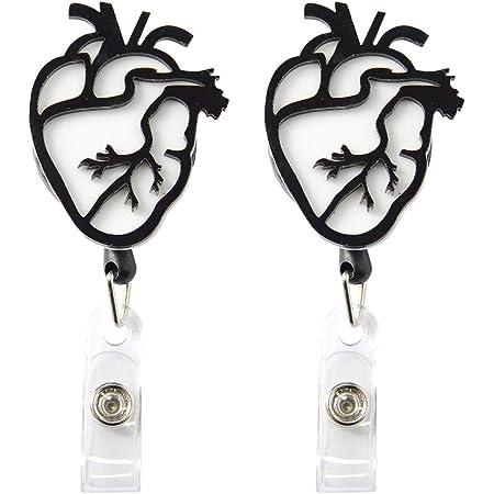 Nurses Have Heart Retractable Badge Reel ID Name Card Badge Holder Nurses Doctors