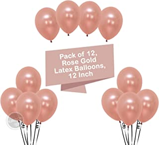 Rose Gold Balloons Party Decorations - Pack of 12, Great Rose Gold Birthday Decorations for Party, Rose Gold Party Supplies for Engagement, Weddings, Proms, Rose Gold Baby Shower Decorations