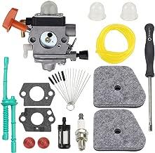 Trustsheer C1Q-S174 FS100 Carburetor Tune Up Kit for Stihl FS87 FS90 FS110 HL100 HL90 FS130 HL95 HT100 HT101 KM90 KM100 KM110 SP90 String Trimmer Replace 4180 120 0604 4180 120 0611