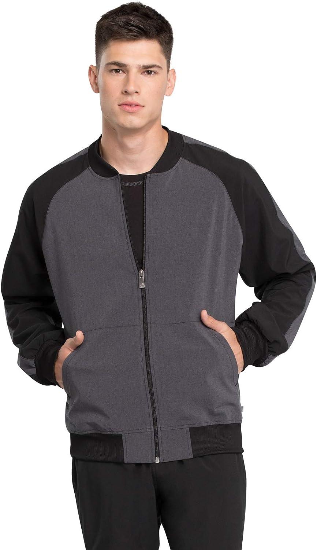 Cherokee Infinity Men Warm Up Jacket Colorblock Zip メイルオーダー ギフ_包装 Front Scrubs