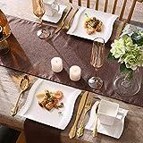 MALACASA, Serie Flora, 18 TLG. Set CremeWeiß Porzellan Kaffeeservice Geschirrset mit je 6 Kuchenteller, 6 Tasse 220ml, 6 Untertasse für 6 Personen - 3