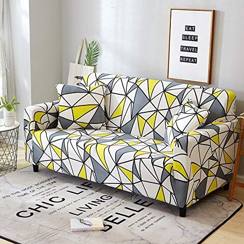 ASCV Funda de sofá elástica de algodón elástico Fundas de sofá de Esquina con Todo Incluido para Muebles de Sala Fundas para sillas Funda de sofá A3 1 Plaza