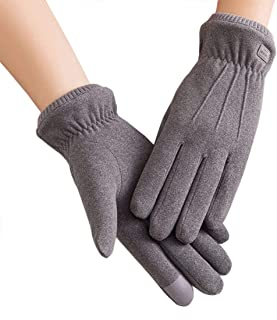 Women Winter Warm Gloves Touch Screen Phone Windproof Lined Thick Gloves