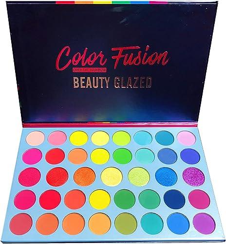 Beauty Glazed 39 couleurs palette de poudre de fard à paupières glitter brillant fard à paupières doré très pigmenté ...