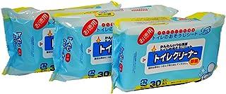 【まとめ買いセット】日本製 トイレのおそうじ 厚手シート 除菌 30枚入 3個セット