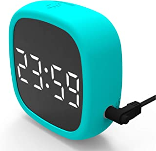 EAAGD LED Alarm Clocks, Silicone Electronic Table Clock Desk Clock Digital Wake Alarm Clock for Offices Bedrooms Living Ro...