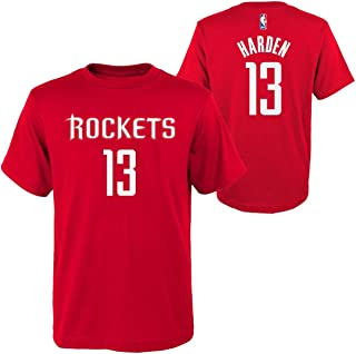 Genuine Stuff Houston Rockets Youth James Harden NBA Name and Number T-Shirt - Red,