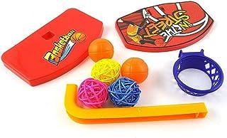 Mumoo Bear Creative Pet Birds Chew Parakeet Bell Balls Parrot Toys Birdie Basketball Hoop Toys