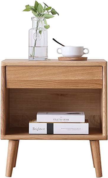 Bedside Table Bedside Table Wood Wax Oil Free White Oak Bedside Cabinets Solid Wood Lockers Simple Small Chest Of Drawers Size 35 5x48x52cm End Tables