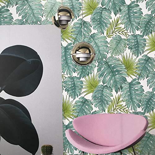 Hot Sale druckbare natürliche Blätter Tapete Design für Heimtextilien Wandfarbe Schlafzimmer Wohnzimmer TV Sofa Hintergrund -5.35.