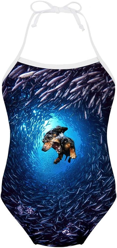 Coloranimal Coloranimal Summer Beach One Piece Badeanzug Für Kinder Mädchen 3y 8y Cute 3d Animal Print Anzug Badeanzüge Bekleidung