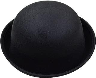 Parent-Child Classic Wool Bowler Hat Soild Color Derby Hat