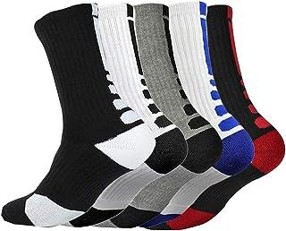 1/3/5/6 pares de calcetines atléticos para hombre, transpirables, acolchados, antiampollas, informales, calcetines, calcetines, para trabajo al aire libre, talla 6 – 11