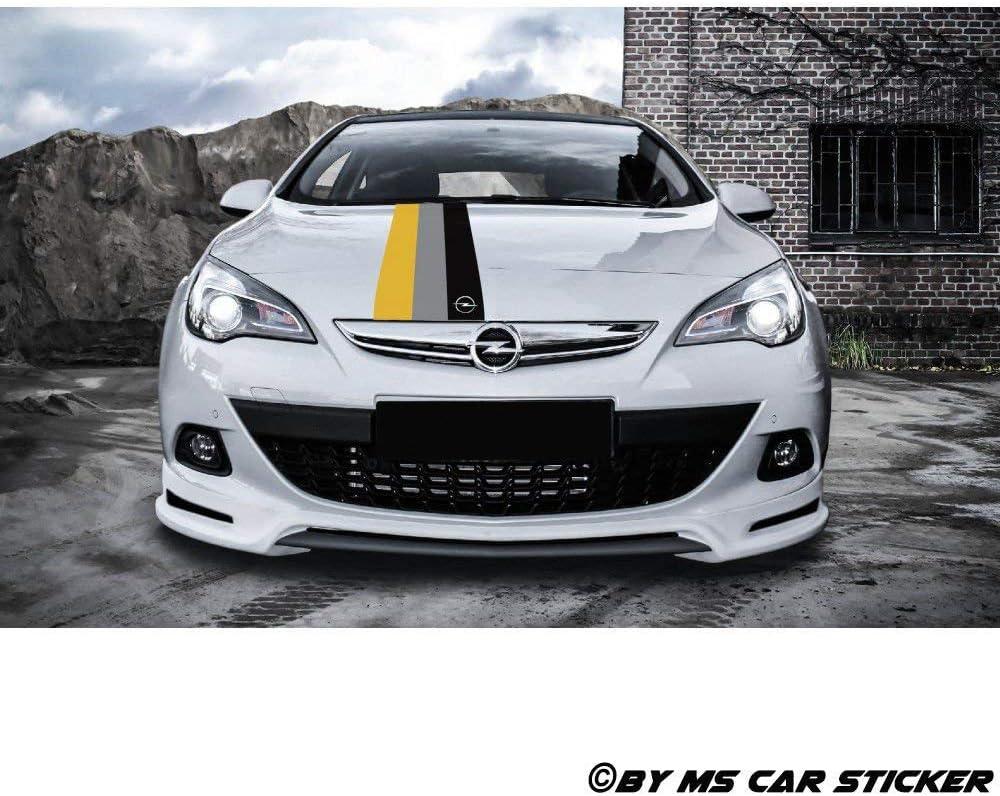 Generic Opel Motorsport Performance Zier Streifen Auto Aufkleber Sticker Tattoo Folie Decor Set1 3er Set Glänzend Auto