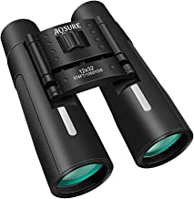 12x32 Compact Binoculars Folding High Powered with Weak Light Night Vision,Roof Prism Binoculars Easy Focus for Outdoor Hunting, Bird Watching,Hiking, Traveling, Sightseeing Fit for Adults and Kids