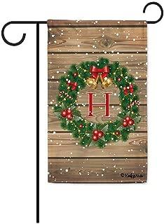 Best monogrammed christmas garden flags Reviews