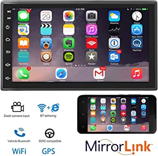 Ezonetronics Android 8.1 Double Din Car Stereo Navigation Bluetooth Touch Screen Car Multimedia Radio Support Netflix,Mirr...
